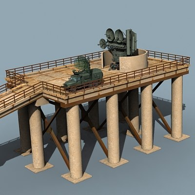 radar towers sa-2 3d model