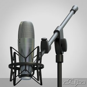 studio microphone 3d 3ds