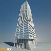 3dsmax studio modern skyscraper 02