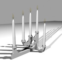 modern candle base lighting obj