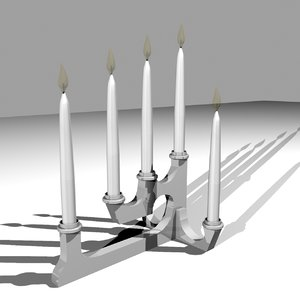modern candle base lighting obj