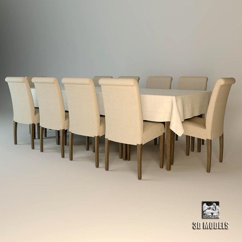 3d model of dinner table