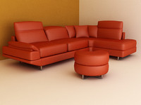 3dsmax leather angle couch small