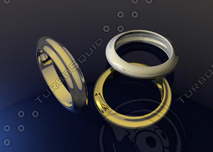 3ds max ring metal gold