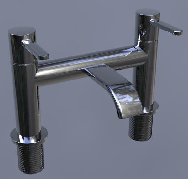 3d model bath filler tap -