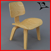 dcw chair wood 3d model