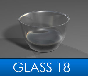 3d model drinking glass