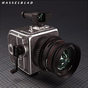 mechanical camera wide hasselblad 3d obj