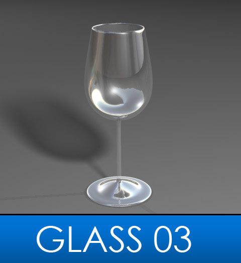 elegant wine glass 3d model