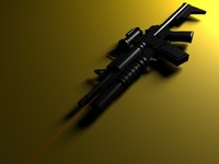 Low poly Machine gun M203