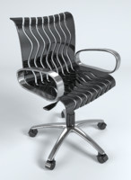 3d wavy office chair