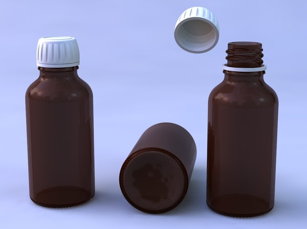3ds max syrup bottle glass
