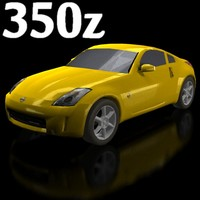 low-poly nissan 350z 3d 3ds