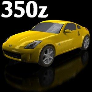 low-poly nissan 350z 3d 3ds