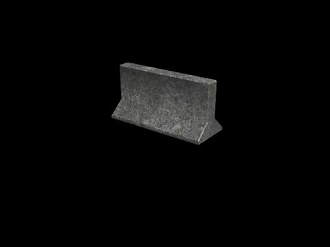 3d concrete barrier
