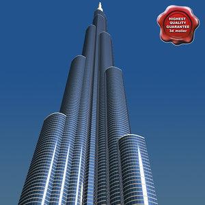 3ds max burj dubai tower