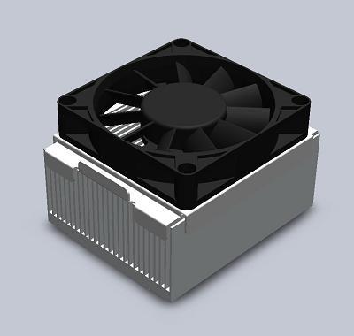 3d cpu heat sink model