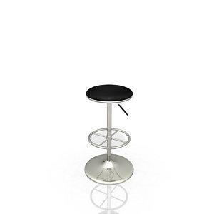 3d model cort ohio bar stool