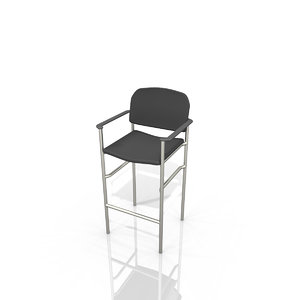 cort syntax bar stool 3d model