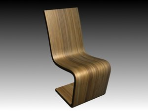 bamboo chair furniture 3d model