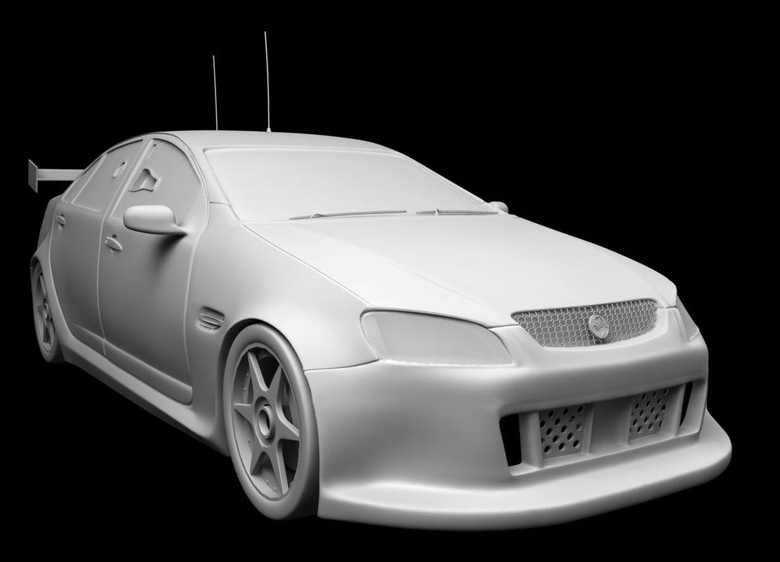 v8 racing commodore 3d model