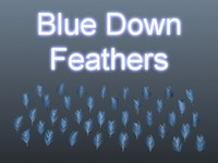 Blue Down Feathers 001