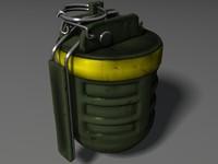 f1 fragmentation grenade frag 3d max