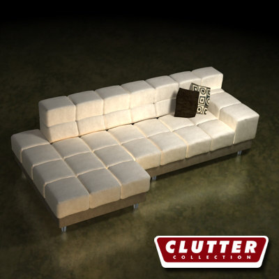 3d upscale couch model