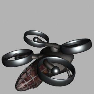free scifi ducted fan 3d model