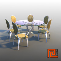 glass dinner table chair lwo
