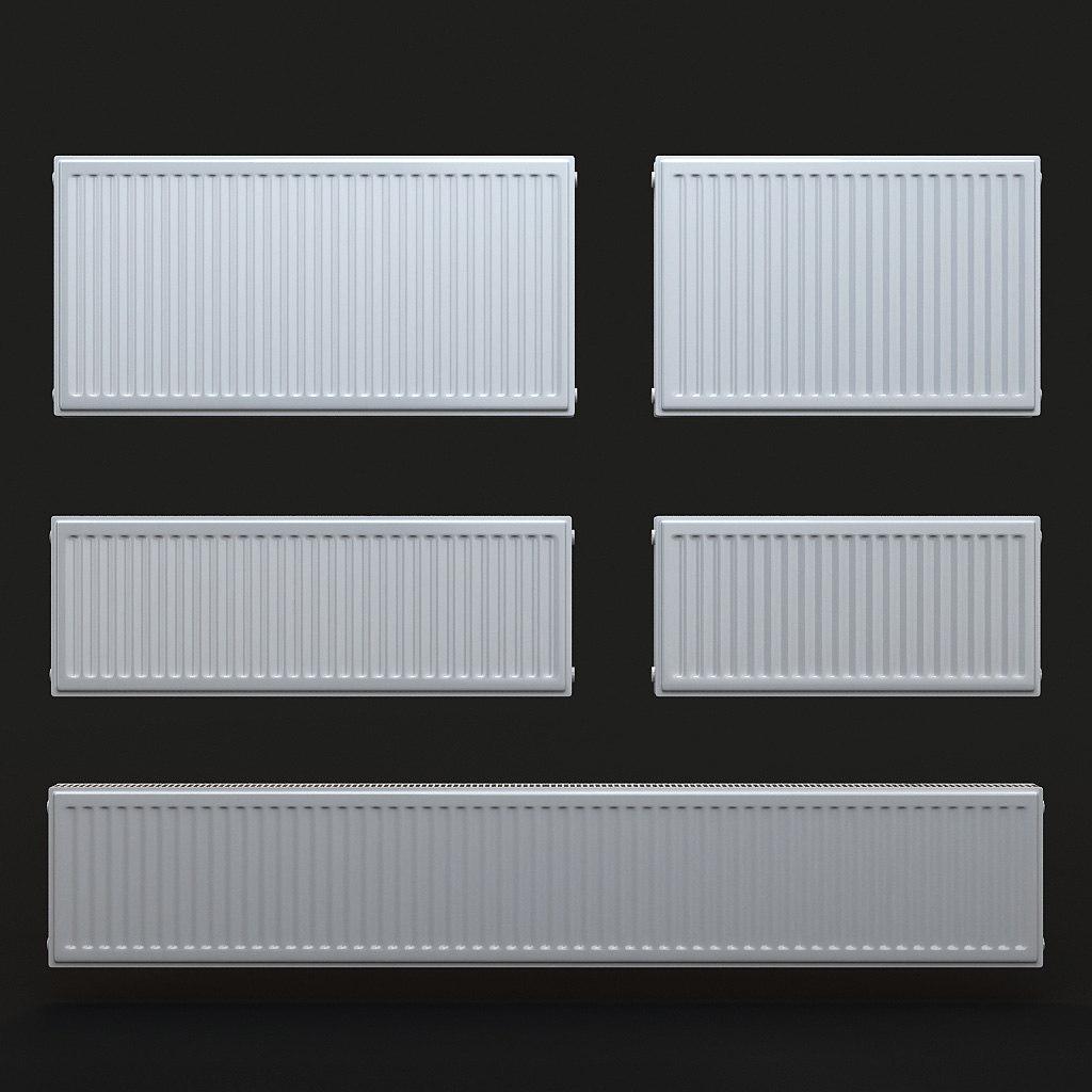 3d radiator heating model