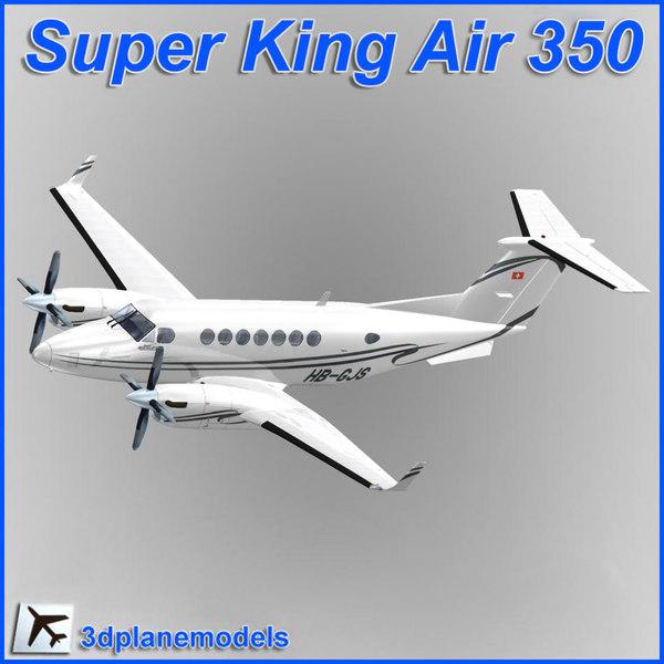 beechcraft super king air 3d model
