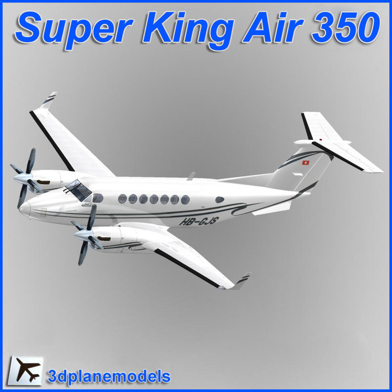 beechcraft super king air 3d model