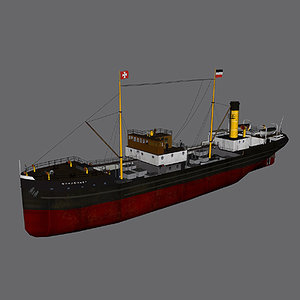 ww1 ss norderney 3d model