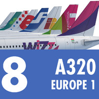 airbus a320 europe airlines 3d model