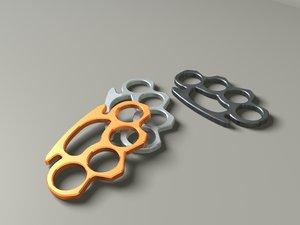 3d model brass knuckles
