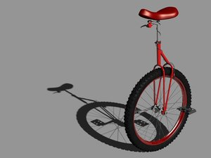 mountain unicycle 3d model