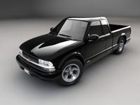 3d model chevrolet s-10 1998