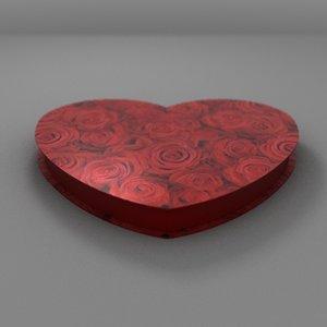 valentines heart 3d obj