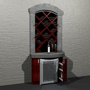 build-in wine cellar 3d model