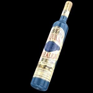 bottle tequila corralejo 3d model