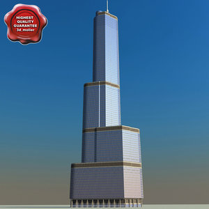 3d trump tower chicago model