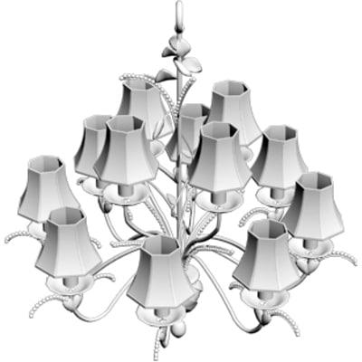 obj chandelier