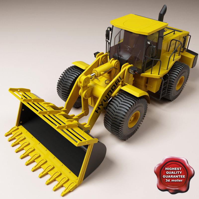 wheel loader hyundai hl770 3d max