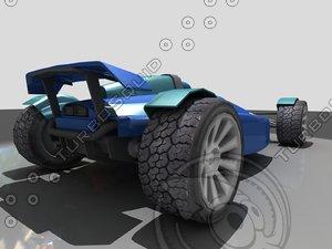 free track stadium car mania 3d model