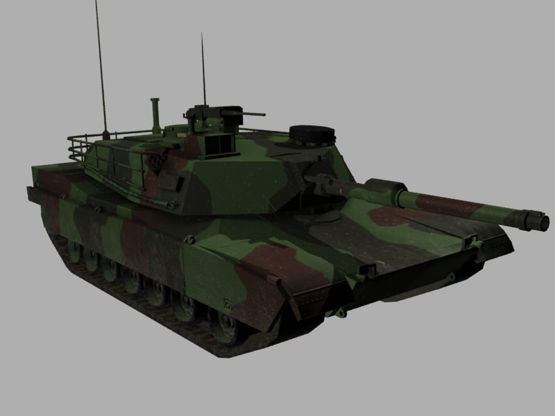 3d model m1a1 abrams tank army