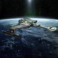 3d model alien space cruiser spaceship
