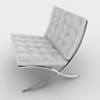 Barcelona Chair (white)