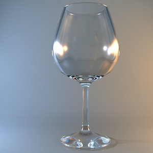 3dsmax burgundy wine glass