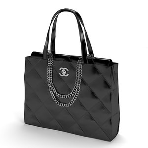 3d model women bag chanel
